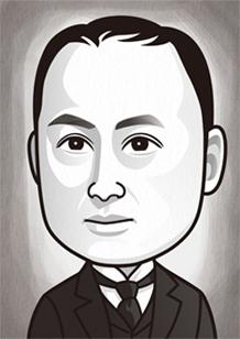 日本にロータリークラブを創設した米山梅吉のイラスト