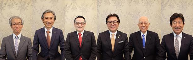 あまロータリークラブの役員メンバーの写真