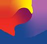 あまロータリークラブを支えるメンバーのイメージをモチーフに作られたイラスト。ロータリークラブの公式ロゴマークを手が支えているイラスト