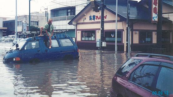 東海豪雨により水害のあった大治町馬島地区