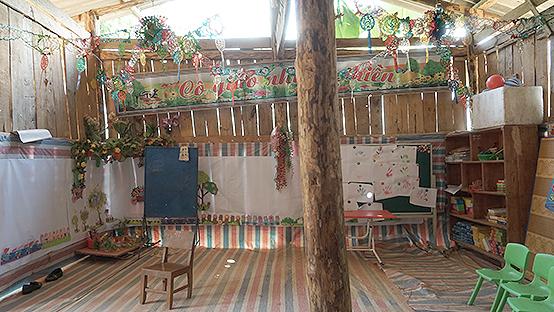 ナモ村幼稚園の旧園舎の様子